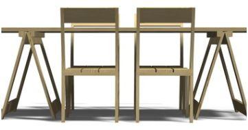 Tafel Onderstel Maken : Bouwtekeningen voor een tuintafel van steigerhout